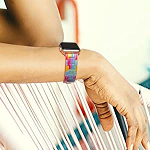 Fashion Resin Light Apple Watch Band - Compatible with Apple Watch Series 6 Series SE