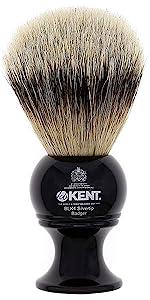 KENT BLK4 Silvertip Badger Shaving Brush