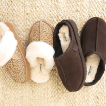 2 pairs of slippers - womens scuff and mens grafton clog