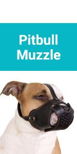 CollarDirect Dog Muzzle Pitbull Amstaff Basket Genuine Leather Staffordshire Terrier