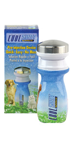 PetTest COOL SHOT Pre-Injection Dermal Numbing Device Pets gives Pain Relief Prevent Needle Pain