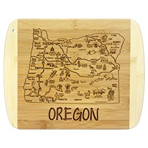 A Slice of Life Oregon Bamboo Serving and Cutting Board