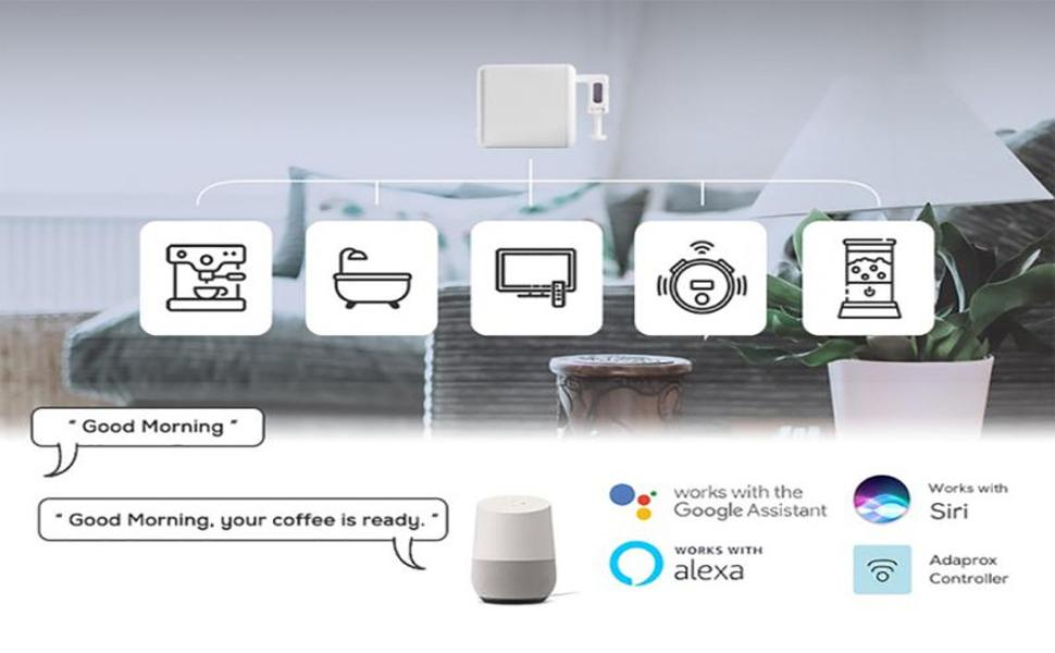 Works with Google Home, Alexa or other Smart Devices