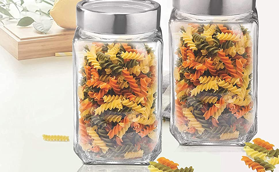 Square Shape Cube jar set is made of the highest quality materials for maximum durability.