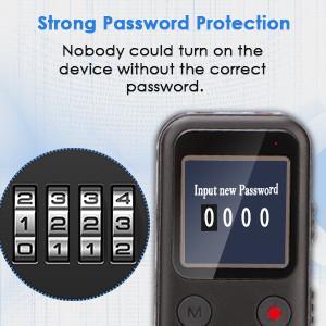 Audio Recorder Password Protected