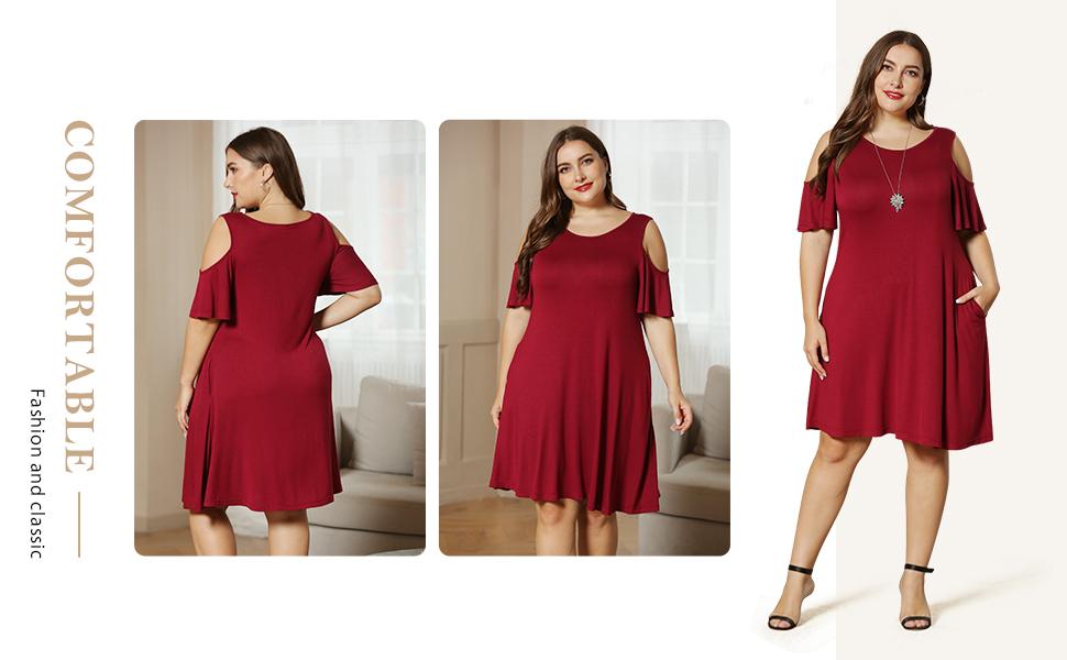 women shoulder dresses