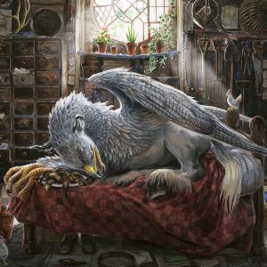 Buckbeak in Hagrid's Hut