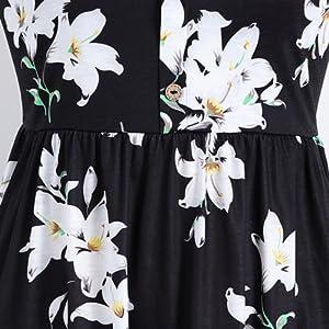 Pleated waist design summer casual dress for women