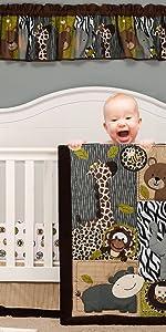 jungle baby crib bedding set