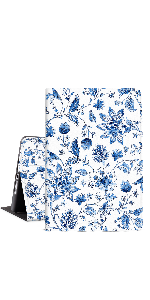 Blue and White Porcelain Flowers 10.2 ipad case