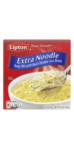Lipton Soup Secrets Instant Soup Mix For a Warm Bowl of Soup Extra Noodle Soup Made