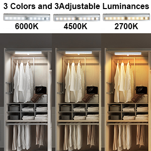 3 colors and 3 adjustable ,  remote control under cabinet lighting meet  you lighting brights