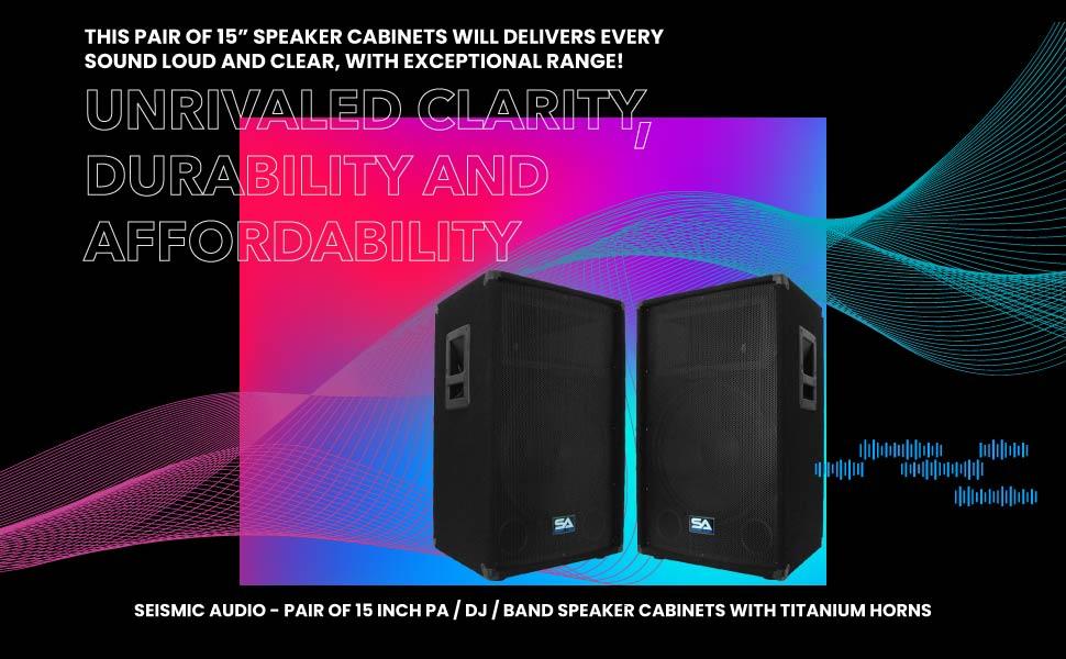 "Seismic Audio SA-15T (Set of 2) 15"" Woofers - Pair of 15"" PA DJ Speakers 700 Watts PRO Audio"