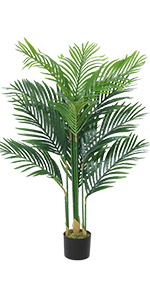 artificial palm tree faux palm tree plants faux plants indoor tall fake plants palm decor