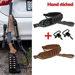 Tas Trost Real Leather Rifle Shoulder Sling with Cartridge