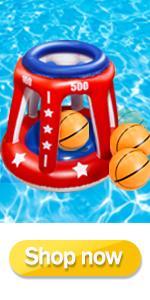 Inflatable Basketball Hoop Set for Pool