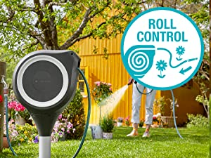 Wandslangenboxen, Gardena, oproltechnologie, tuin, RollControl, eco Pulse, roll control