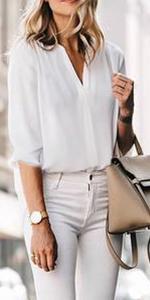 Timeson Chiffon Sleeveless Blouse Tops Pleated Front Office Work Shirts