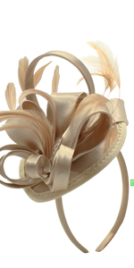 Fascinator Hats for Women Feather Cocktail Party Hats Bridal Kentucky Derby Headband