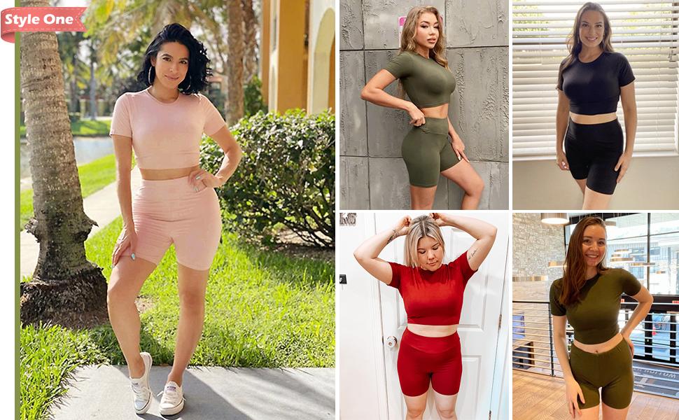 womens shorts sets