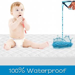 100% waterproof mattress pad