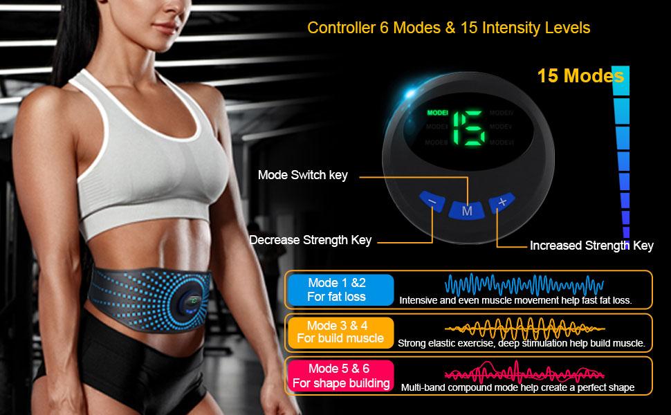 3-Abs Muscle Trainer Flex Belt for Women Men