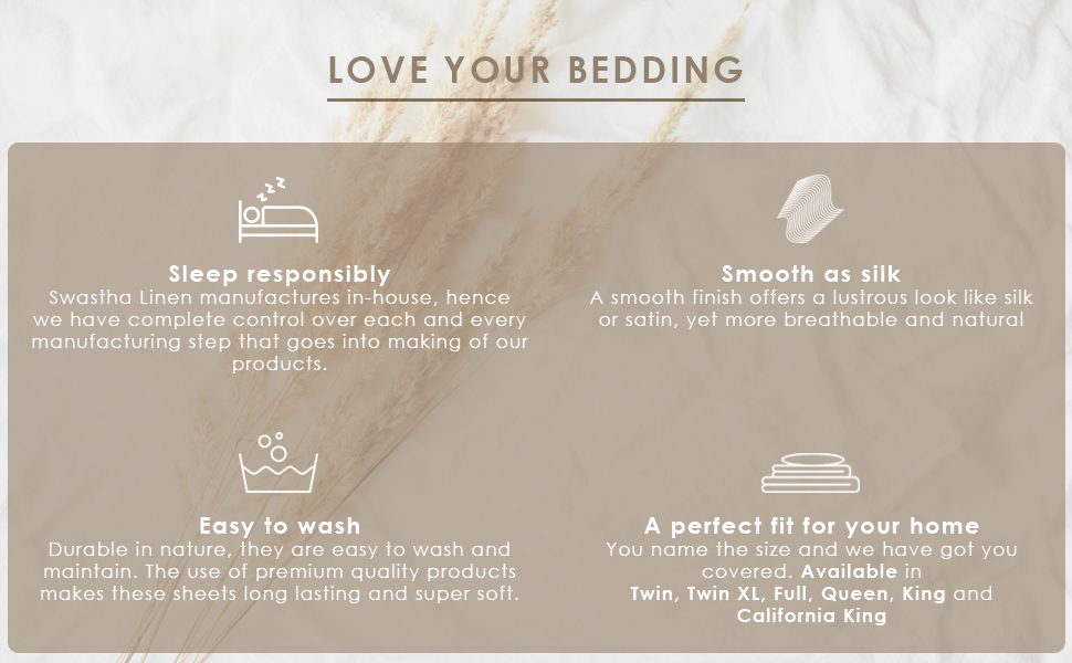 Love Your Bedding with Swastha Linen