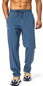 mens workout running pants with phone pokcets