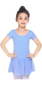 Boyoo Girl's Ballet Dance Dress Short Sleeve