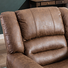 Leather Manual Recliner Chair
