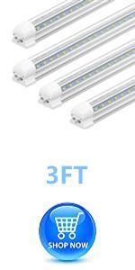 led utility lights 36 inch 3 foot 3 feet tube bar lights shop light fixtures 0.9m 90cm bulb lamps 4