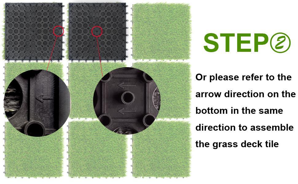 NQN Artificial Grass Tiles Installation Guide Step 2