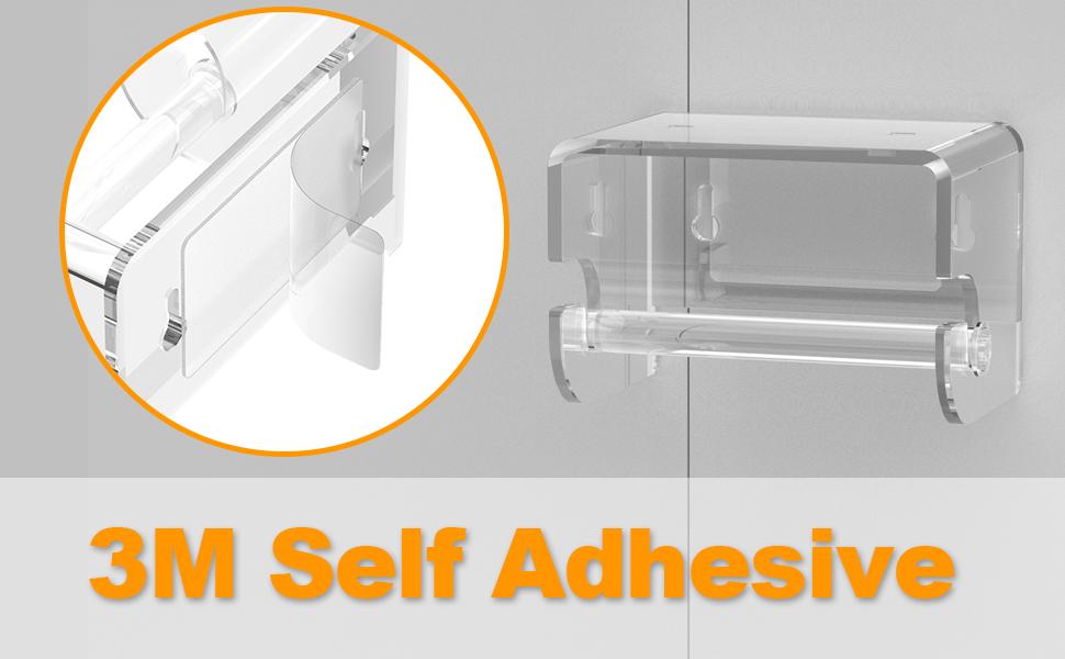 self adhesive toilet paper holder
