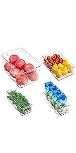 Clear Refrigerator Organizer Bins