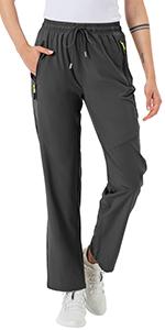 BGOWATU Lightweight Women's Hiking Cargo Pants