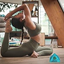 Aquamarine Orgone Pyramid healing crystal protection meditation energy pyramid