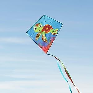 diamond kite, kite easy to fly, baby turtle kite, rocket kite, kite for kids, in the breeze, kite