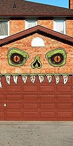Halloween Monster Fangs Door Stickers