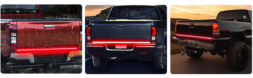 LED Tailgate light bar strip all in one kit with sequential turn signal brake reverse running light