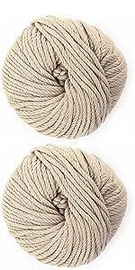blue chunky medium yarn skein