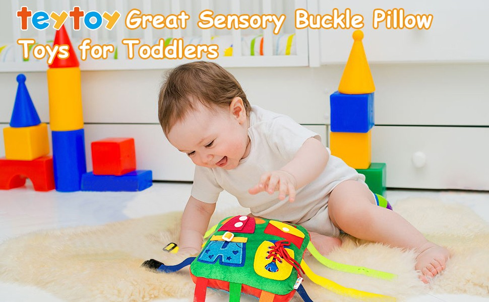 teytoy great sensory buckle pillow toys for toddlers