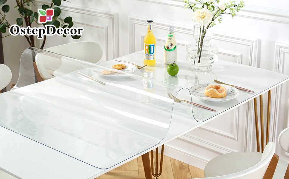 New clear table cover