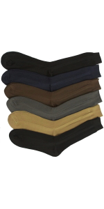 men's pack of six or twelve classic dress socks