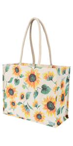 coated canvas market tote bag for grocery shopping