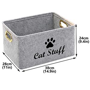 geyecete treats toy storage bin cat stuff bin storage bin