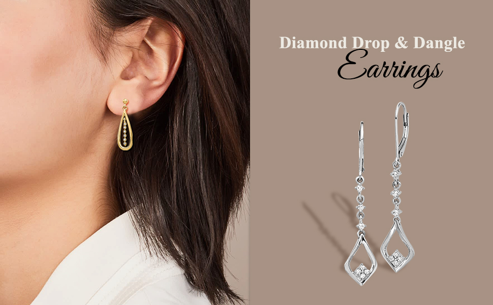 Diamond Drop amp; Dangle Earrings