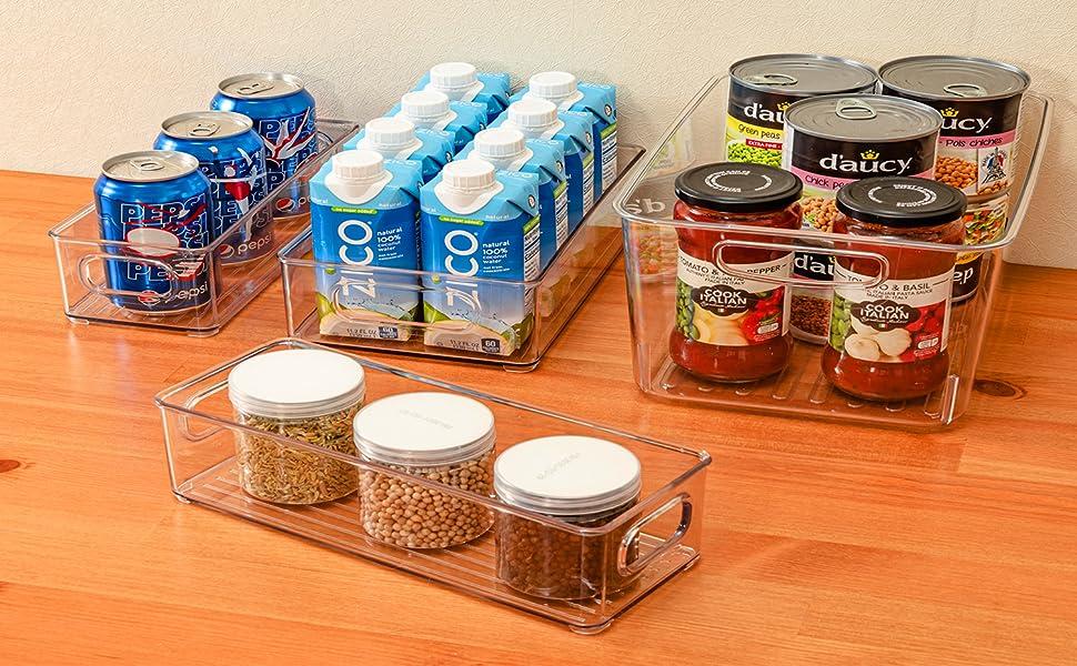 Clear Refrigerator Organizer Bin