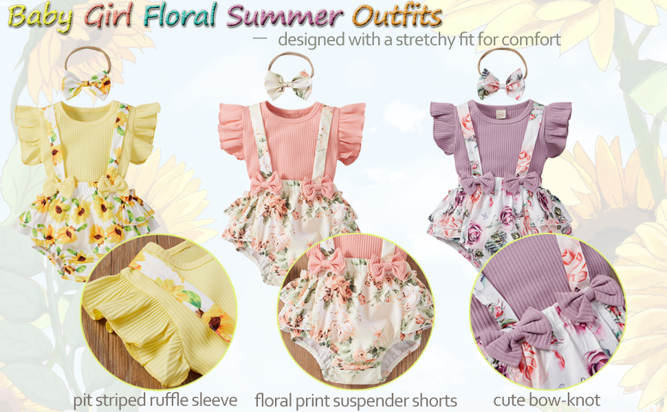 infant girl floral outfits