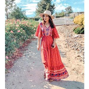 Bohemian Beach Long Maxi Dress
