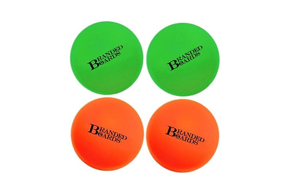 Lacrosse Balls Green and Orange 2-Packs